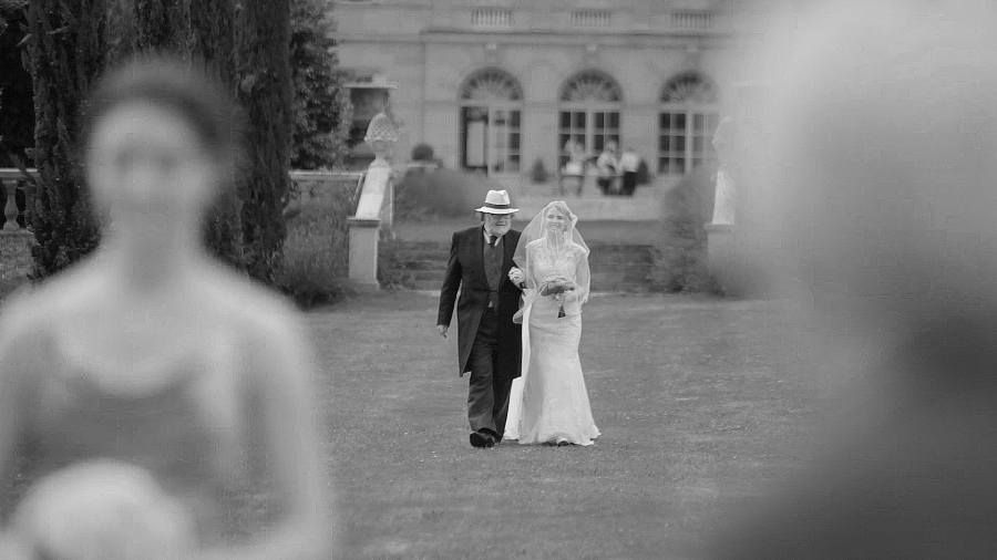 Walking down the aisle at the Chateau