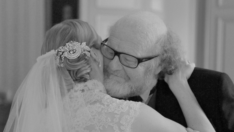 A hug just before the wedding